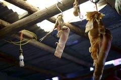 Ainda vida: bacon no feixe Fotografia de Stock