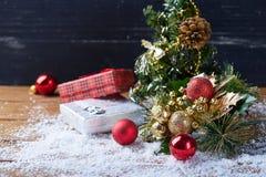 Ainda vida com acessórios do Natal Imagens de Stock