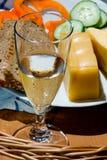 Ainda vida com alimento e vinho Imagem de Stock