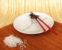Ainda vida com arroz no estilo japonês Fotos de Stock