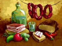 Alimento nacional ilustração do vetor