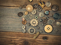 Ainda vida com botões do vintage Imagens de Stock Royalty Free