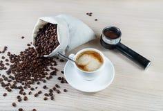 Ainda vida com café Fotografia de Stock