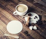 Ainda vida com café Imagens de Stock