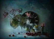 Ainda vida com cereja Imagem de Stock Royalty Free