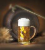 Ainda vida com cerveja Imagens de Stock