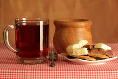 Ainda vida com chá Foto de Stock Royalty Free