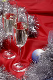Ainda vida com champanhe Fotografia de Stock