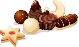 Ainda vida com cookies do Natal ilustração royalty free