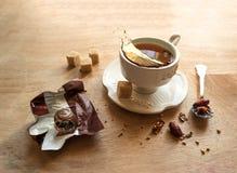 Ainda vida com copo de chá Imagem de Stock