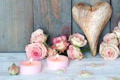 Ainda vida com coração para o dia de mães Imagens de Stock Royalty Free