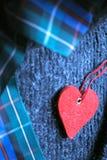 Ainda vida com coração vermelho Fotografia de Stock Royalty Free