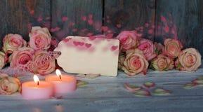 Ainda vida com corações macios para o dia de mães Imagem de Stock