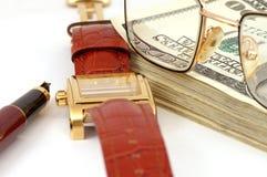 Ainda-vida com dinheiro Imagens de Stock Royalty Free