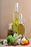 Ainda vida com ervas e especiarias Imagem de Stock Royalty Free