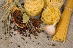 Ainda vida com espaguete Foto de Stock Royalty Free