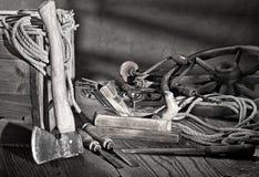 Ainda vida com ferramentas velhas Imagens de Stock Royalty Free
