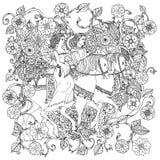 Ainda vida com flores ilustração do vetor