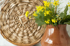 Ainda-vida com flores Imagens de Stock