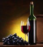 Ainda vida com frascos de vinho Imagens de Stock
