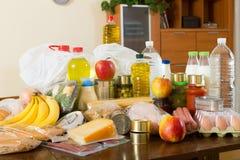 Ainda vida com gêneros alimentícios do supermercado Imagem de Stock