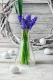 Ainda vida com jacintos Imagens de Stock Royalty Free