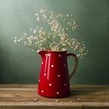 Ainda vida com jarro vermelho Imagens de Stock