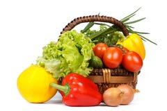 Ainda-vida com legumes frescos Fotos de Stock Royalty Free