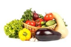 Ainda-vida com legumes frescos Fotografia de Stock