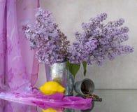 Ainda vida com lilac Fotografia de Stock Royalty Free