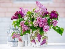 Ainda vida com lilac Foto de Stock Royalty Free