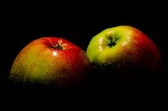 Ainda vida com maçãs frescas Fotografia de Stock Royalty Free