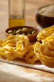 Ainda vida com massa italiana foto de stock