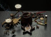 Ainda vida com objetos mágicos, Fotos de Stock Royalty Free