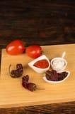 Ingredientes do brava da salsa fotos de stock royalty free