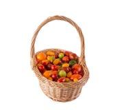 Ainda vida com os tomates diferentes da cor Foto de Stock