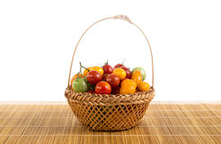 Ainda vida com os tomates diferentes da cor Fotos de Stock
