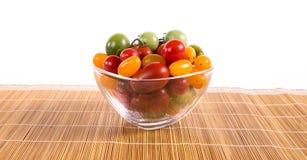 Ainda vida com os tomates diferentes da cor Foto de Stock Royalty Free