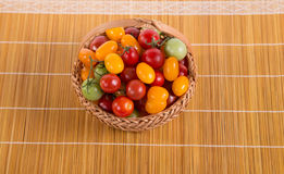 Ainda vida com os tomates diferentes da cor Fotografia de Stock Royalty Free