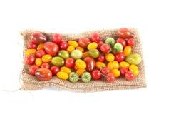 Ainda vida com os tomates diferentes da cor Imagens de Stock Royalty Free