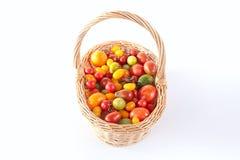 Ainda vida com os tomates diferentes da cor Fotos de Stock Royalty Free