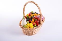 Ainda vida com os tomates e beringelas diferentes da cor Fotos de Stock Royalty Free