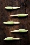 Ainda vida com os vegetais em de madeira Fotografia de Stock
