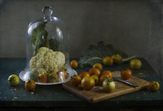 Ainda vida com os vegetais na cozinha Imagens de Stock