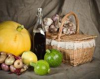 Ainda-vida com os vegetais no estilo rural Foto de Stock