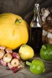 Ainda-vida com os vegetais no estilo rural Imagem de Stock Royalty Free