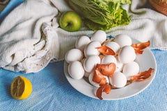 Ainda vida com ovos Imagens de Stock Royalty Free