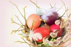 Ainda vida com ovos de Easter Imagem de Stock