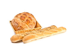 Ainda vida com pão Fotografia de Stock Royalty Free