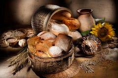 Ainda vida com pão Imagem de Stock Royalty Free